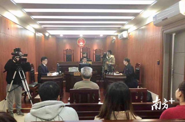 故意毁坏、侮辱尸体案在三水法院公开开庭审理。张秀蓝 摄