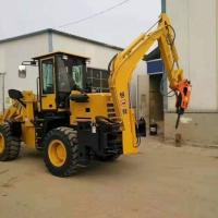 一机多用的工程铲车园林果园挖掘装载机两头忙装载机械