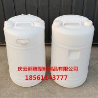 带提把手60升双口塑料圆桶60kg小口塑料桶
