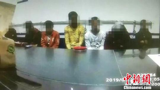 图为被拘留的民众 威信县公安局供图 摄