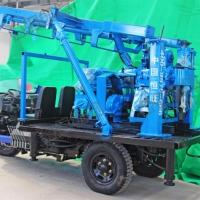 农用三轮车打井机 230米深柴油液压水井钻机