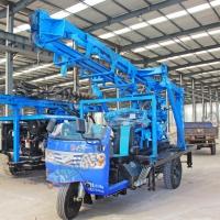 农用三轮车打井机 深度190米柴油液压水井钻机