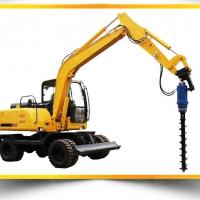挖机改螺旋钻机厂家直销挖掘机改装螺旋钻