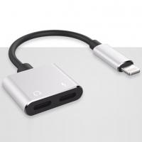 转接线 苹果7耳机充电听歌通话四合一音频转接头