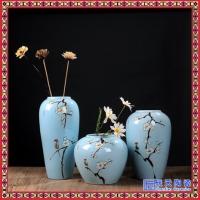 复古双耳花瓶 地中海田园风做旧仿古花瓶客厅餐桌玄关摆件三件套