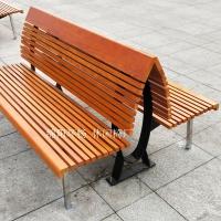重庆双排靠背座椅 塑木休息椅 广场椅