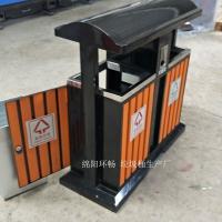 龙泉山景区垃圾桶供应 厂家直销钢木垃圾桶