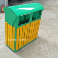 兰花主题公园垃圾箱 木艺垃圾箱 环畅户外果皮箱制作