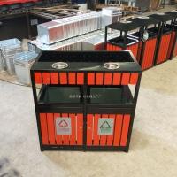 青城山景区垃圾箱 园林垃圾箱 大号木艺垃圾桶