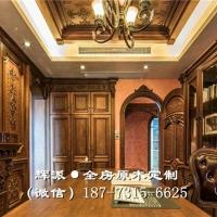 长沙原木美式家具价格透明、原木房门、壁炉柜定做木质整装