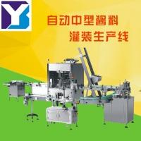 中型酱料灌装生产线 重庆市义本包装设备