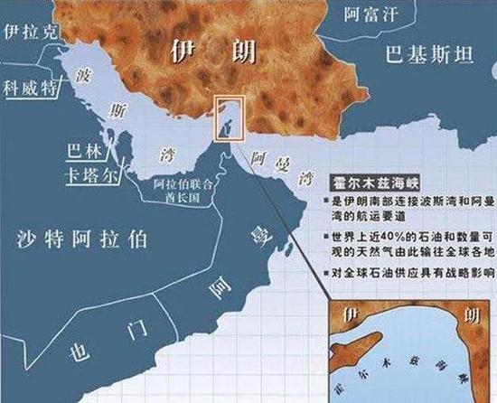 战略位置重要的霍尔木兹海峡