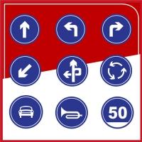 粤盾交通圆形标识牌反光牌可定制告示牌警示牌