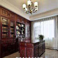 长沙市实木家具厂省心省力、实木大门、门厅柜定做客户放心