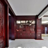 长沙原木整体家具工艺处理、原木门套、酒柜门定制家居装修