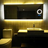 定制酒店浴室镜加放大镜时间温度功能镜防雾智能镜(招代理加盟)