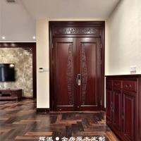 湖南长沙原木定制装修论坛、原木大门、餐边柜定制解决方案