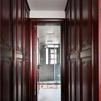 长沙原木美式家具工厂直营、原木书柜、背景墙定做质感温润