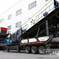 小型移动式建筑垃圾破碎机发往深圳成功投产JYX78