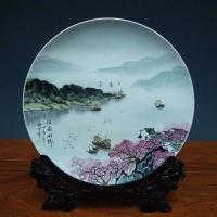 商务礼品陶瓷纪念盘批发 陶瓷挂盘16寸厂家报价