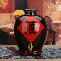 昭通陶瓷储酒器加字定做 云南陶瓷酒缸200斤批发