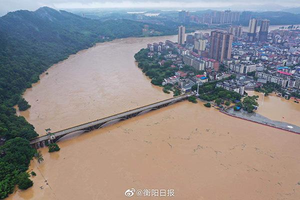 湘江下游发生超50年一遇特大洪水 11条河流超警