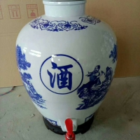 浙江陶瓷酒坛批发 慈溪陶瓷酒缸150斤厂家供应