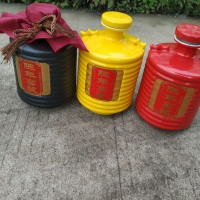 内蒙古陶瓷酒瓶3斤双耳批发 陶瓷酒具厂家报价