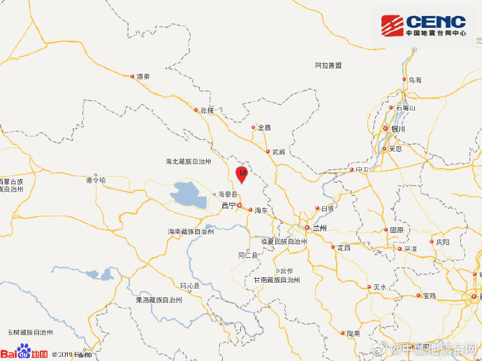 青海海北州门源县发生3.1级地震 震源深度10千米