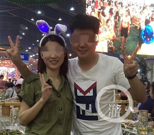 ▲王丽生前与丈夫刘先生的合影。受访者供图