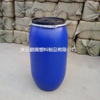 160L塑料桶160升开口塑料桶抱箍法兰塑料桶厂家