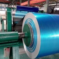 江苏0.68mm防水覆蓝膜铝卷保温专用铝皮