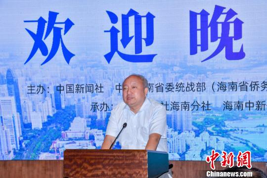 中国新闻社副总编辑张明新在欢迎会上致辞。 骆云飞 摄
