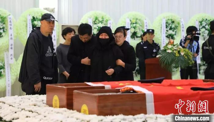 图为:追悼会现场。台州公安供图