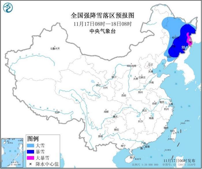 中央气象台发布暴雪黄色预警内蒙古等地有大到暴雪