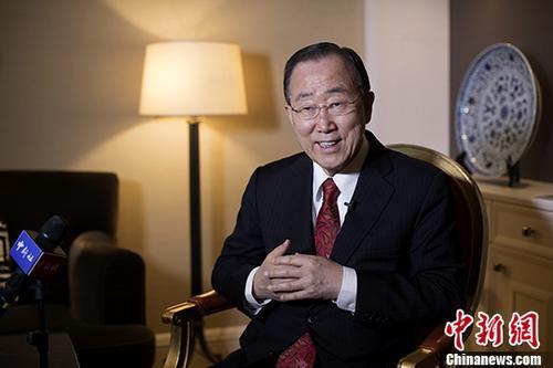 11月30日,联合国前秘书长潘基文在北京接受中新社记者专访,他赞赏当今的中国是全球治理的积极参与者,认为如果没有中国在诸多领域的积极参与和支持,他担任联合国秘书长的10年就不会取得像现在一样的成功。 中新社记者 刘关关 摄