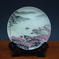 公司可以典礼陶瓷纪念盘批发 陶瓷挂盘加字定做