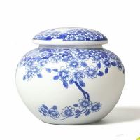 景德镇陶瓷密封罐1斤厂家供应 陶瓷包装罐加字定做