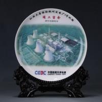 江门陶瓷纪念盘批发 陶瓷挂盘16寸厂家供应